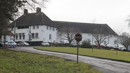 Hospital site in Royston.