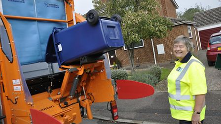 Bin collection days for homes in the South Cambs district - pictured is council chairman Councillor