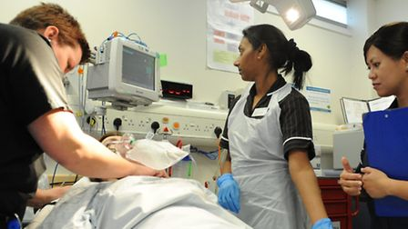 Sophie Ives, operations manager for emergency medicine, Shaheen Hosany, emergency department matron