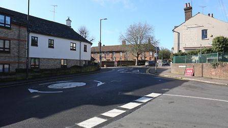 The newly resurfaced Hatfield Road roundabouts.