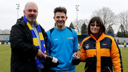 The Harpenden Construction Limited January 2017 Player or the Month award winner Jamie Cureton with