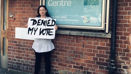 Lucie Gutfreund is one of many voters who were denied a vote in the EU elections, sparking a nationa