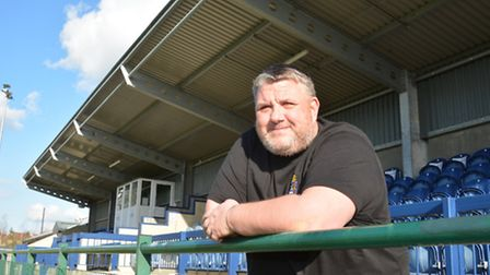 New Rovers coach Andy Davies,