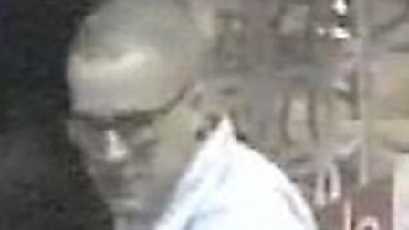 Police are searching for this man in connection with a hate crime.