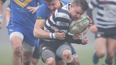 William Dacey in action for Royston RFC. Picture: KARYN HADDON
