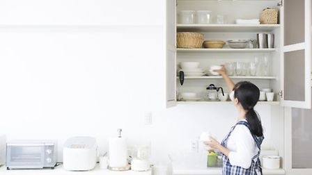 A tidy kitchen is more achievable when everything has its place