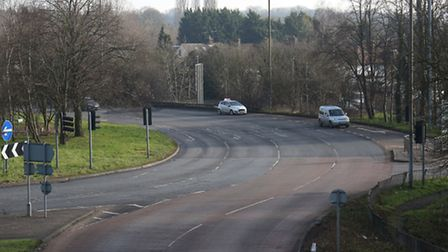 The London Colney roundabout.