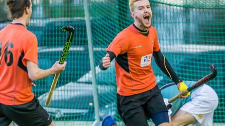 Adam Wilson scores for the mens first team against Cambridge University. Picture: CHRIS HOBSON