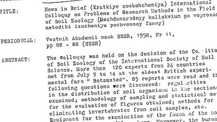 Rothamsted Research in Harpenden appears in various declassified CIA documents, dating back to the 1