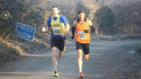 St Albans Striders' Tom Crouch finished second to Paul Martelletti at the Fred Hughes 10K. Picture: