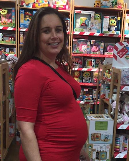 Caroline Collings worked full-time att he centre until she gave birth to her first child Theo.