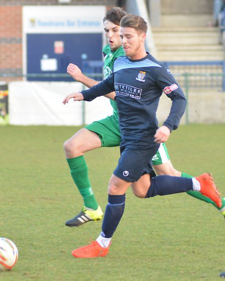 Declan Rogers suffered fractured fingers in St Neots Town's defeat to Hitchin.