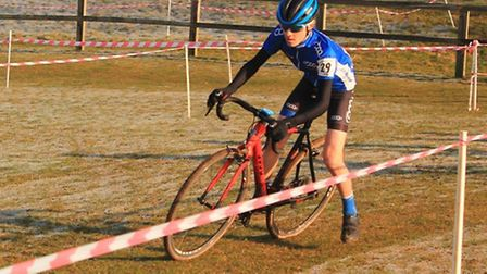 Cycle Club Ashwell in action at the final round of the Eastern Cyclo-cross League at Snetterton