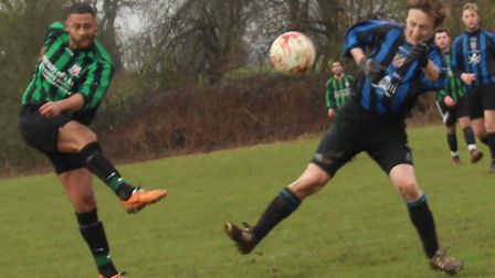 Pinewood's David Bailey shoots against Harpenden COB Reserves