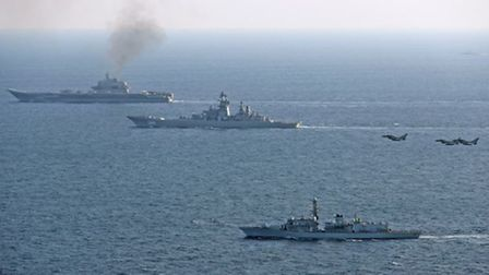 HMS St Albans escorted a Russian warship through the Channel. Photo courtesy of Royal Navy