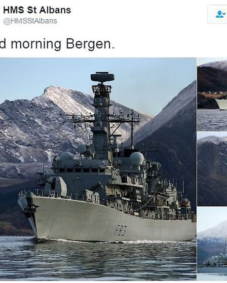 HMS St Albans is now in Norway. Photo courtesy of Twitter/@HMSStAlbans