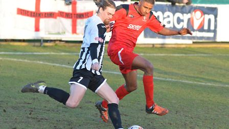 Scott Sinclair made his first league start for three months as St Ives faced Hayes & Yeading.