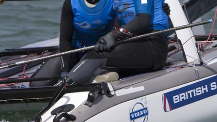 Ben Saxton and NIcola Groves at the Sailing World Cup held in Miami. Picture: British Sailing Team/R