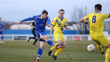 Charlie Walker scored his first goals for St Albans City against Welling United. Picture: LEIGH PAGE
