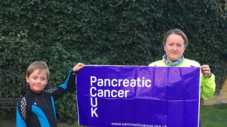 Toby with mum Larraine, who are raising money for pancreatic cancer.