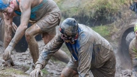 Chris Ackroyd taking part in the Tough Guy challenge.