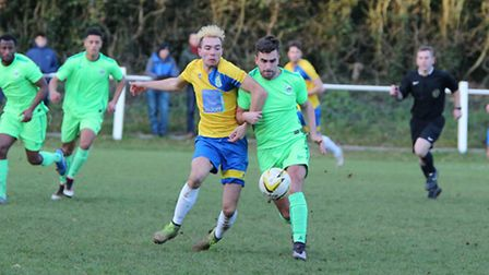 Charlie Gould scored in his final game for Harpenden Town before heading to New Zealand for a year.