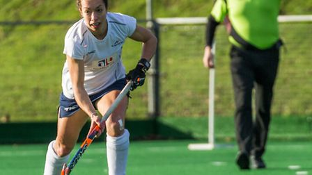 Amie Hone in action for St Albans Hockey Club ladies. Picture: CHRIS HOBSON