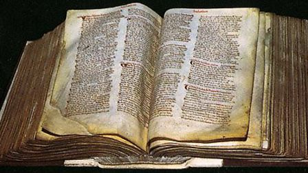 The ancient Domesday Book.