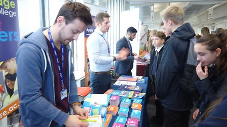 Melbourn VC students visited Anglia Ruskin University.