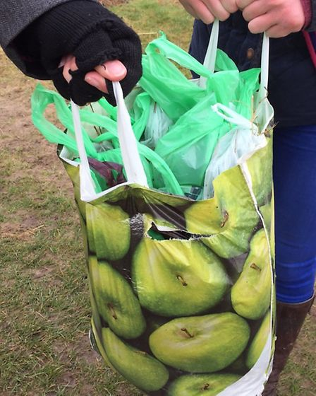 The haul of poo from the heath. Picture: Sally Marchant