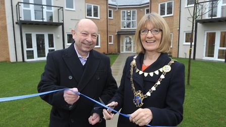 The Mayor of the City and District of St Albans, Cllr Frances Leonard and Chair of North Hertfordshi