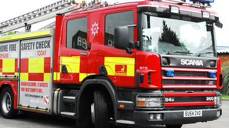 A fire broke out in the engine compartment of a car in Smallford.