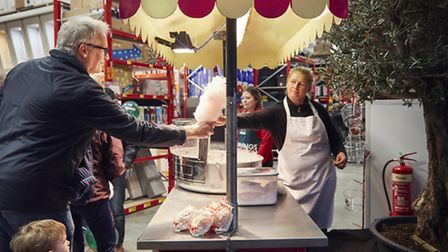 Cotton candy stand at Bunnings's opening weekend. Credit: Bunnings.