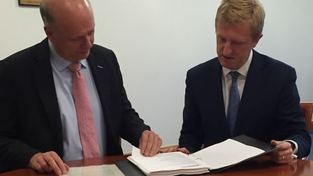 Oliver Dowden's meeting with Transport Secretary Chris Grayling.