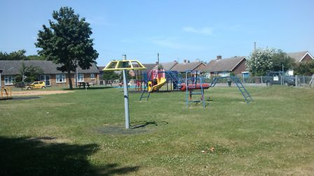 The existing play area in Serby Avenue.