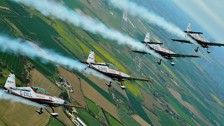 Aerobatic display team The Blades will be performing at the Duxford Air Festival
