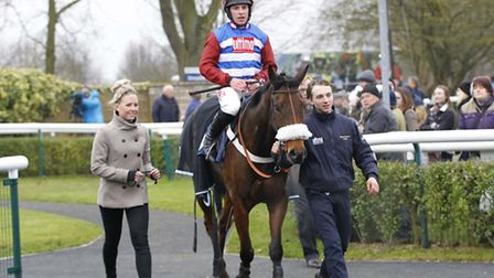 Keeper Hill and jockey Gavin Sheehan return to the winner's enclosure after success in the Sidney Ba