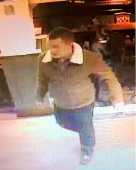 The man police would like to speak to in connection with an incident of violent disorder in Huntingd