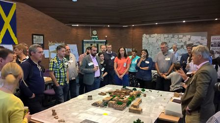 People arranged at the charrette organised by Look! St Albans about the regeneration of the civic ce