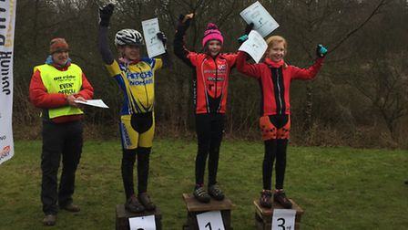 Orla Kenna on the top step of the podium after her success in the Under 12 Girls' category.