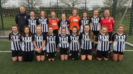 The St Ivo School Under 14 girls' team have reached the ESFA PlayStation Schools' Cup final for the