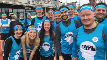 Laura Coad and other runners at the Heads Together London Marathon training day