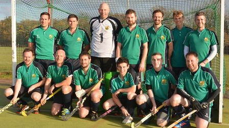 Pictured earlier this season, St Ives Men's 1sts are back row, left to right, Alex Grange, Ben Scarr