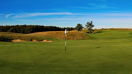 The 16th hole of the course, to be used as the 4th in the tournament.