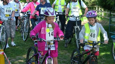 A photo given by the organisers of St Albans Charity Cycle Ride from the 2016 event.