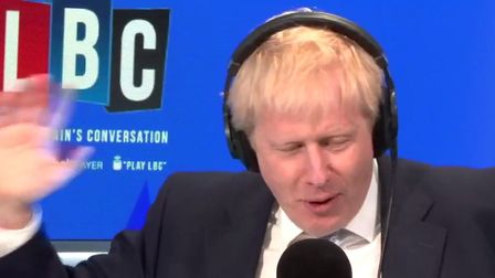 Boris Johnson refused to answer any questions over where the romantic picture of himself and Carrie