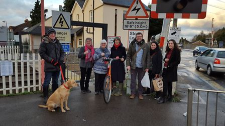 Campaigners against the closure of the Barrington Road pedestrian gate.