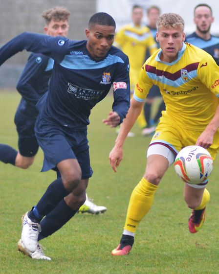 Jevani Brown saw a strong penalty shout ignored as St Neots were beaten at Leamington.