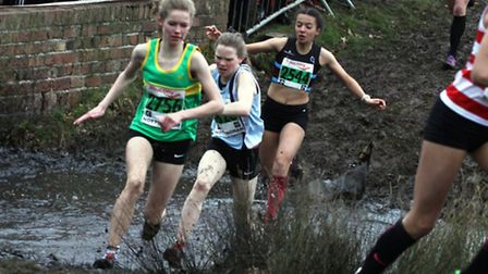 Shannon Flockhart of Hunts AC competing in the National Cross-Country Championships.