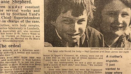 Dean James was one of the boys who found Janie Shepherd's body in Nomansland Common, near Wheathamps
